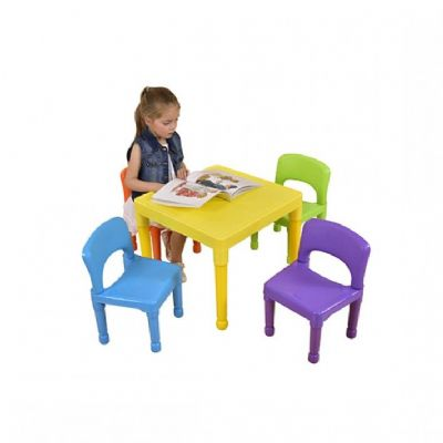Children's Table and 4 Chairs Set,Nursery tables,Early years classroom tables,play tables,play table for school,school furniture